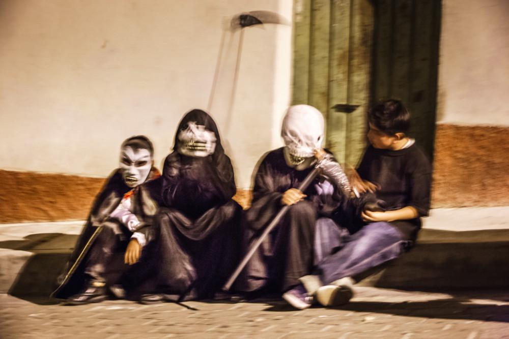 Day of the Dead procession (comparsa) in San Agustín Etla, Oaxaca, Mexico.