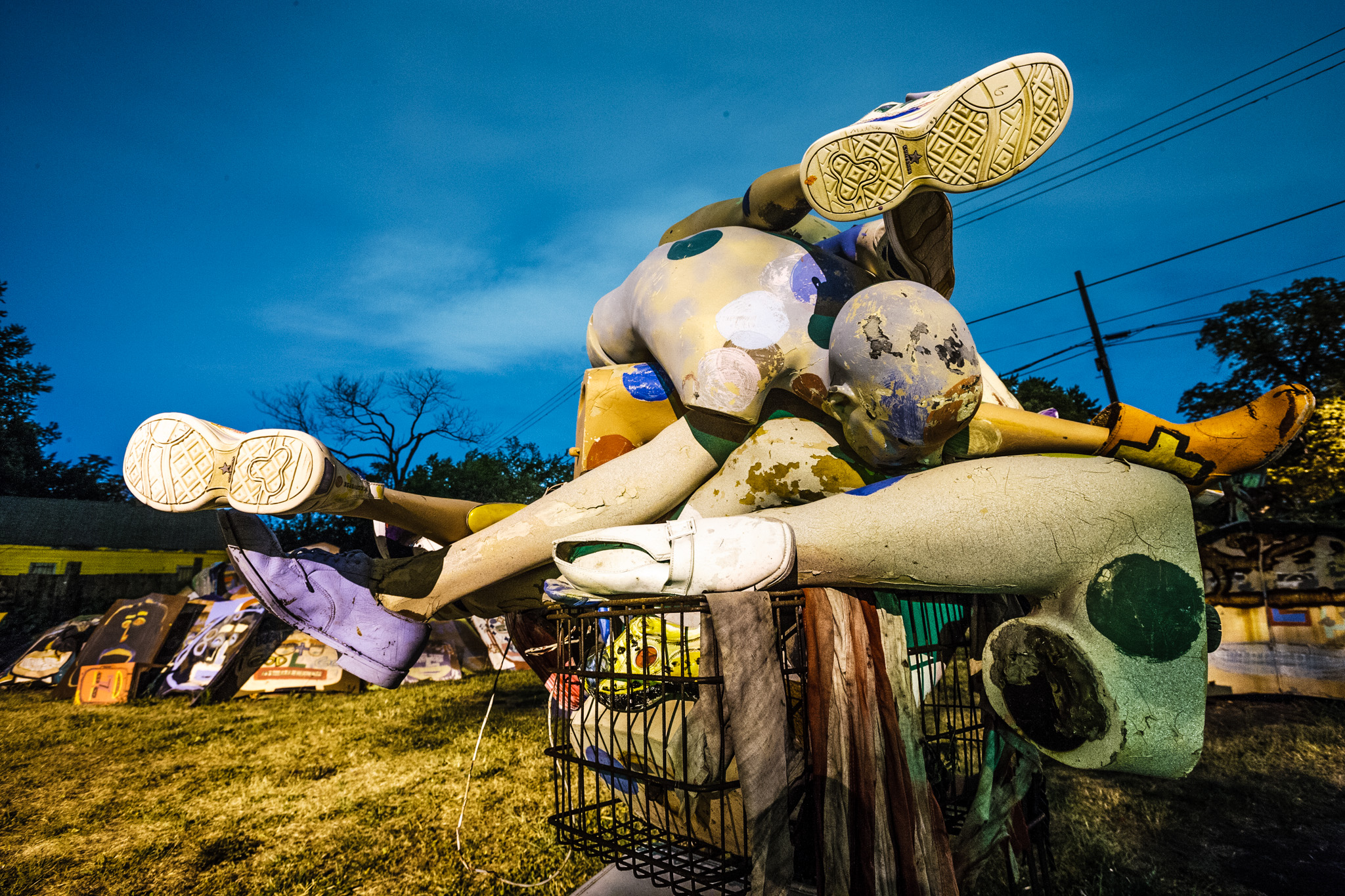 Heidelberg Project at Night