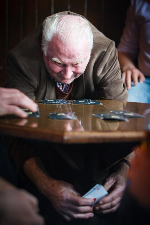 Man Playing Cards