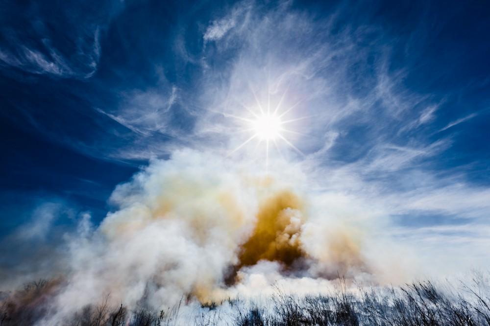 Sunburst through Smoke
