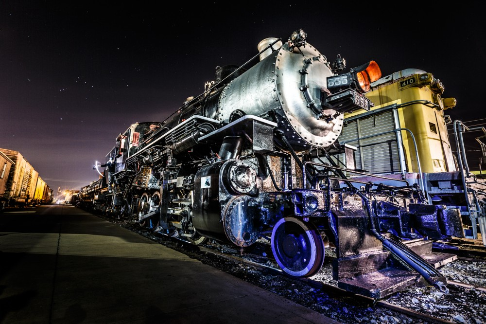 Locomotive at Night