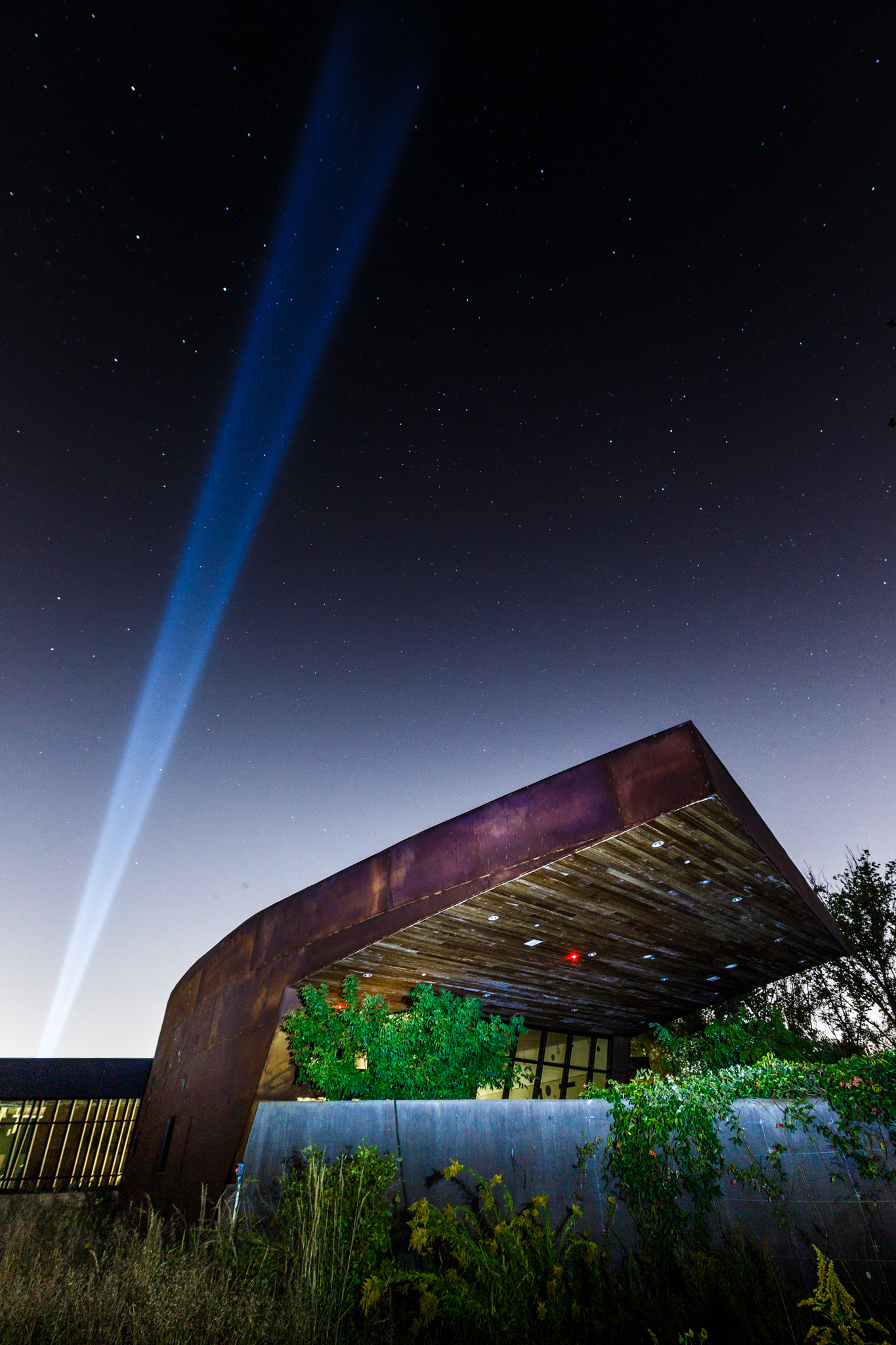 Nasher Spotlight Above Trinity River Audubon Center