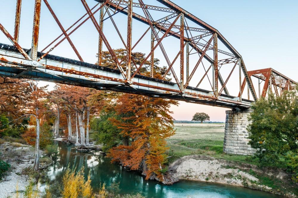 Guadalupe River Bridge in Fall