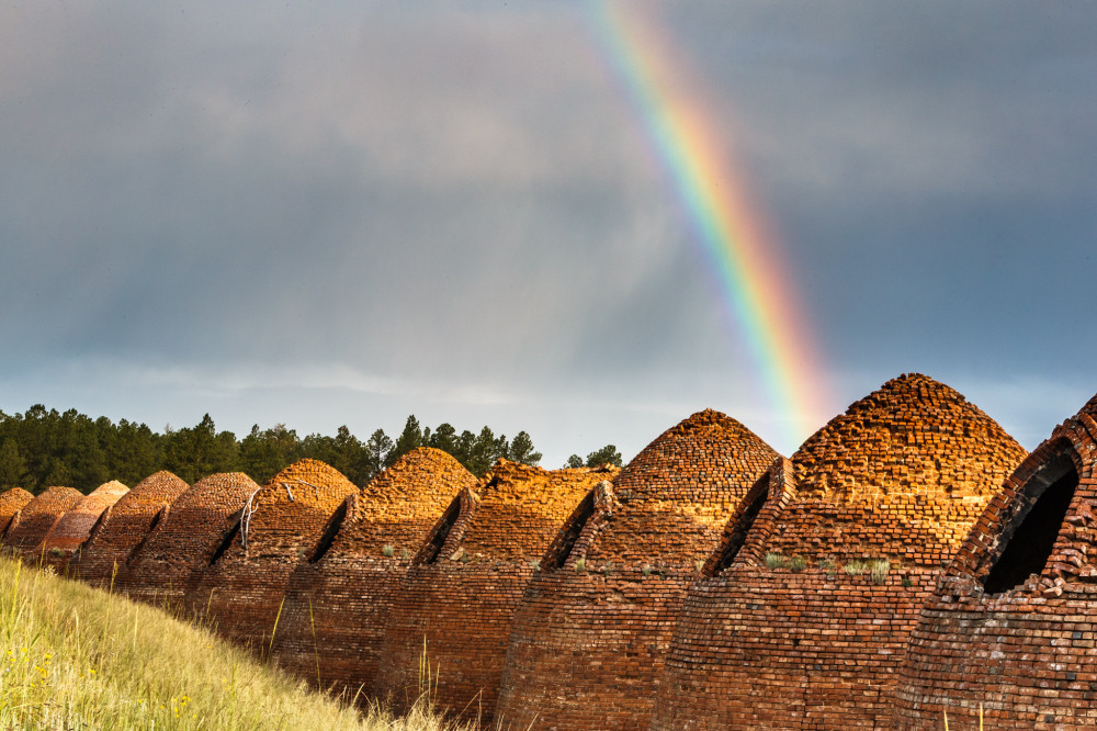 Rainbow Over Charcoal Kilns
