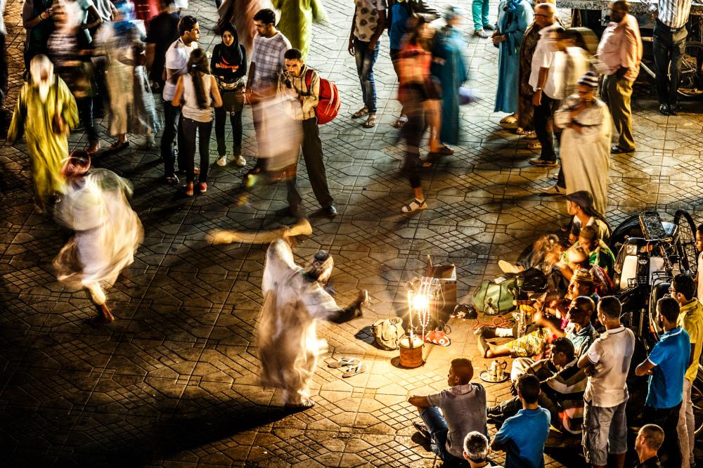 Dancers at Jemaa el Fna Square