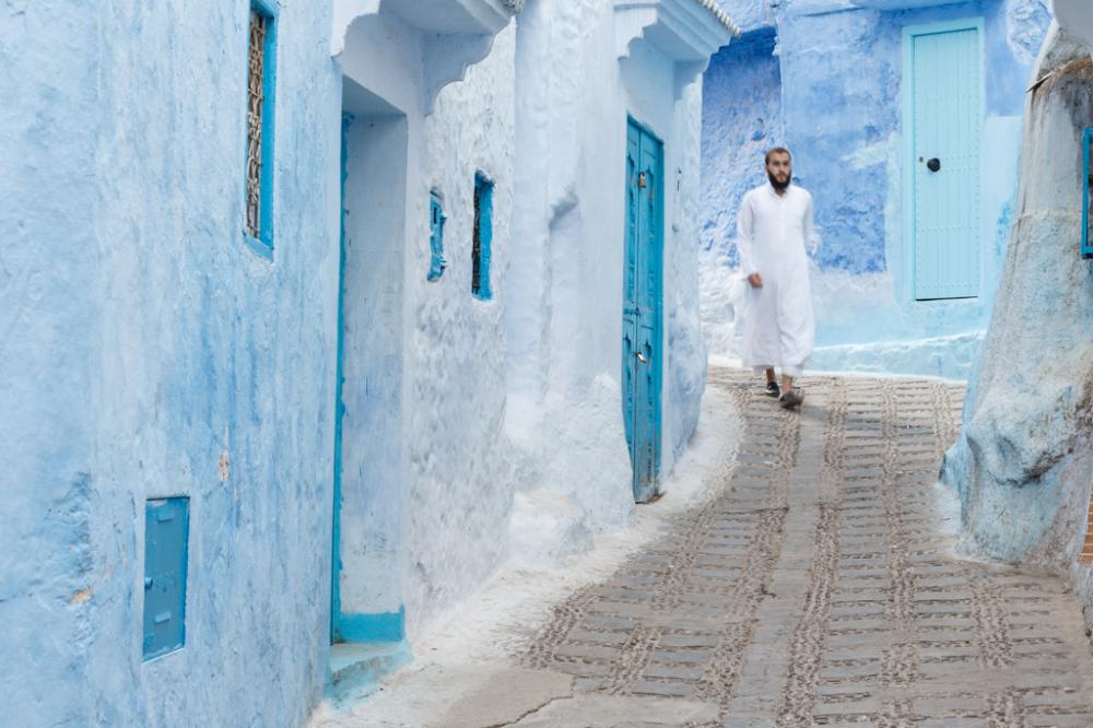 Walking down Blue Alleys