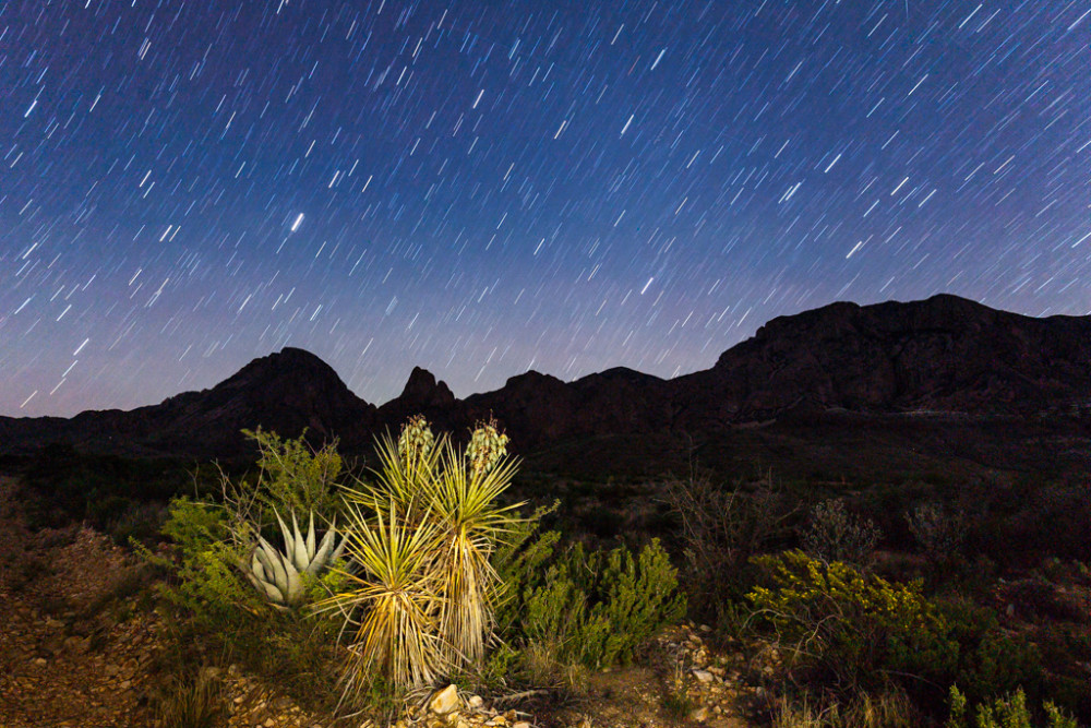 Stars and Chisos Mountains