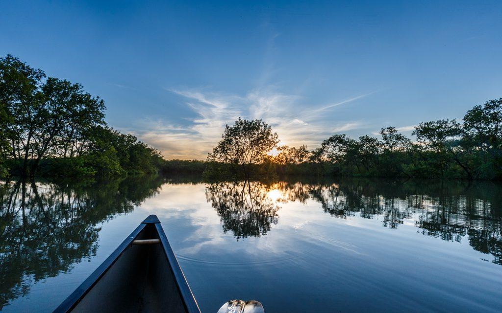 Canoe and Still Water