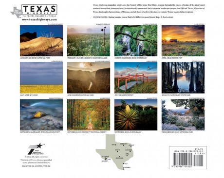 Texas Highways 2016 Wall Calendar