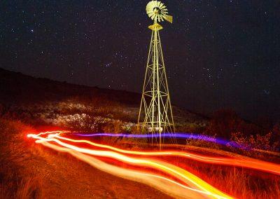 Windmill and Night Sky