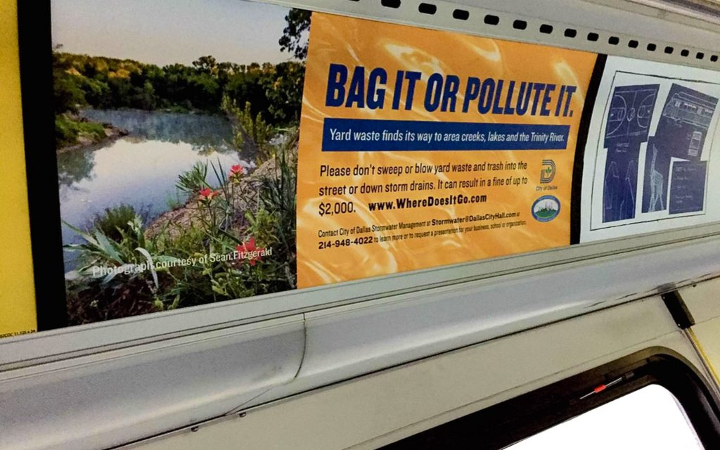Dallas DART Campaign to Stop Trash in the Trinity River