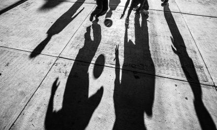 Shadows on Basketball Court