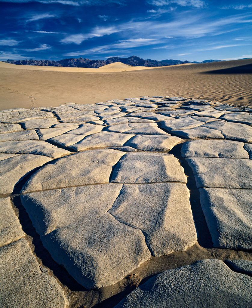 Cracked mud, Death Valley National Park, CA, USA