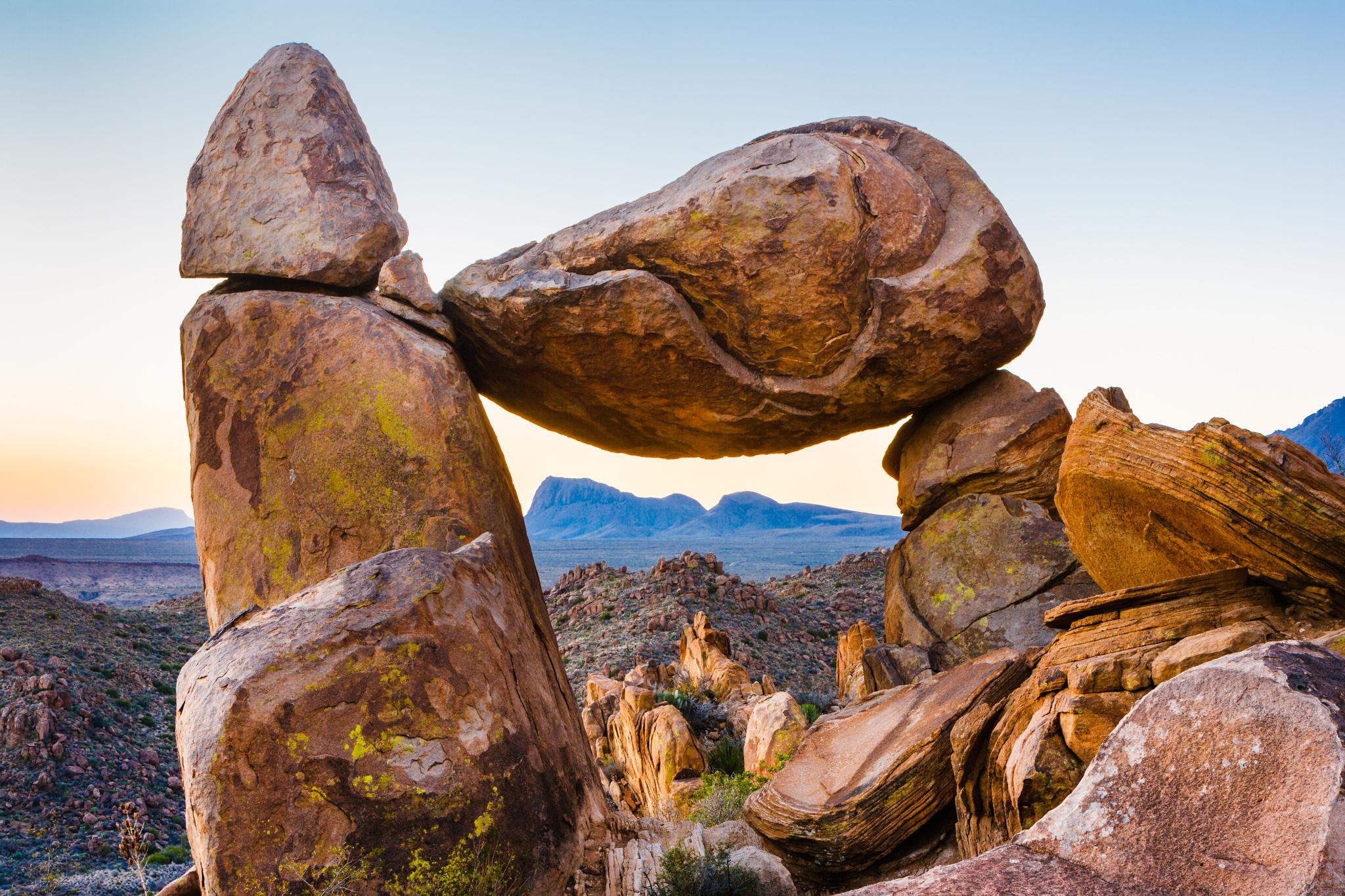 Balanced Rock in Big Bend
