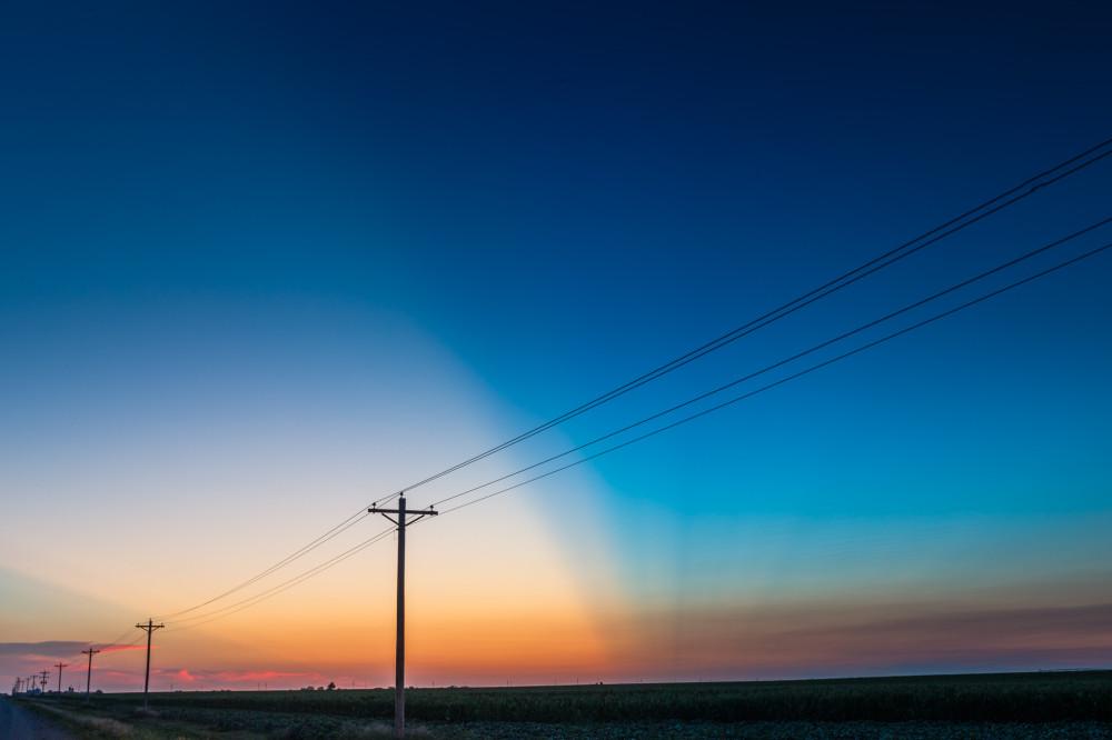Telephone Poles at Sunset