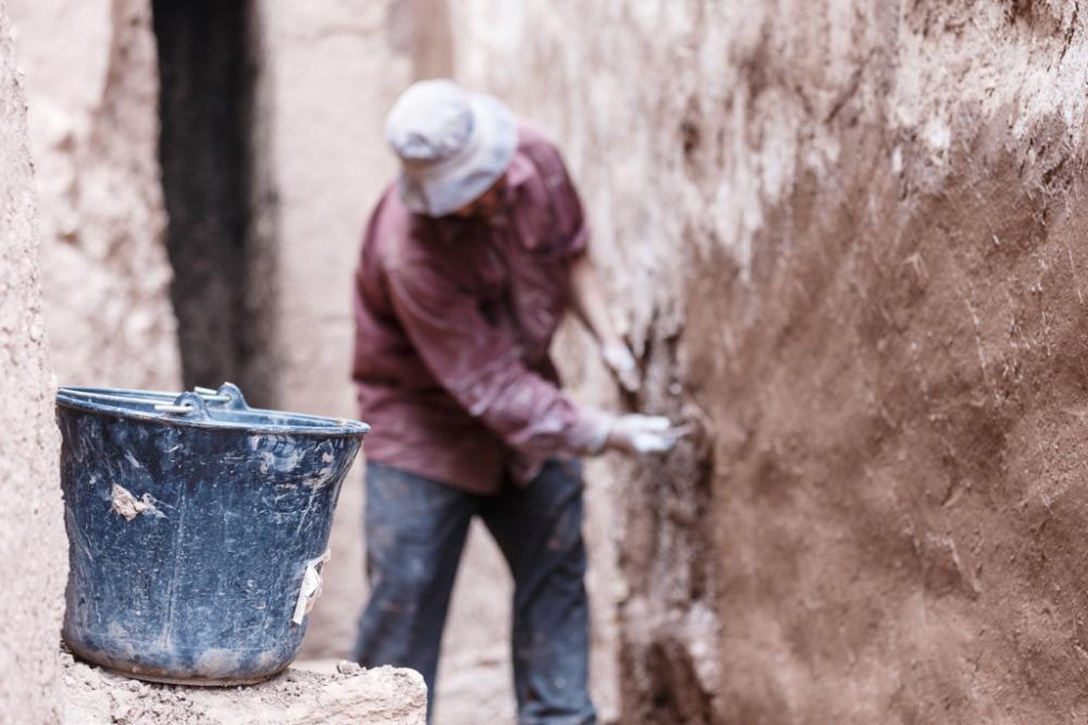 Working on Kasbah Walls