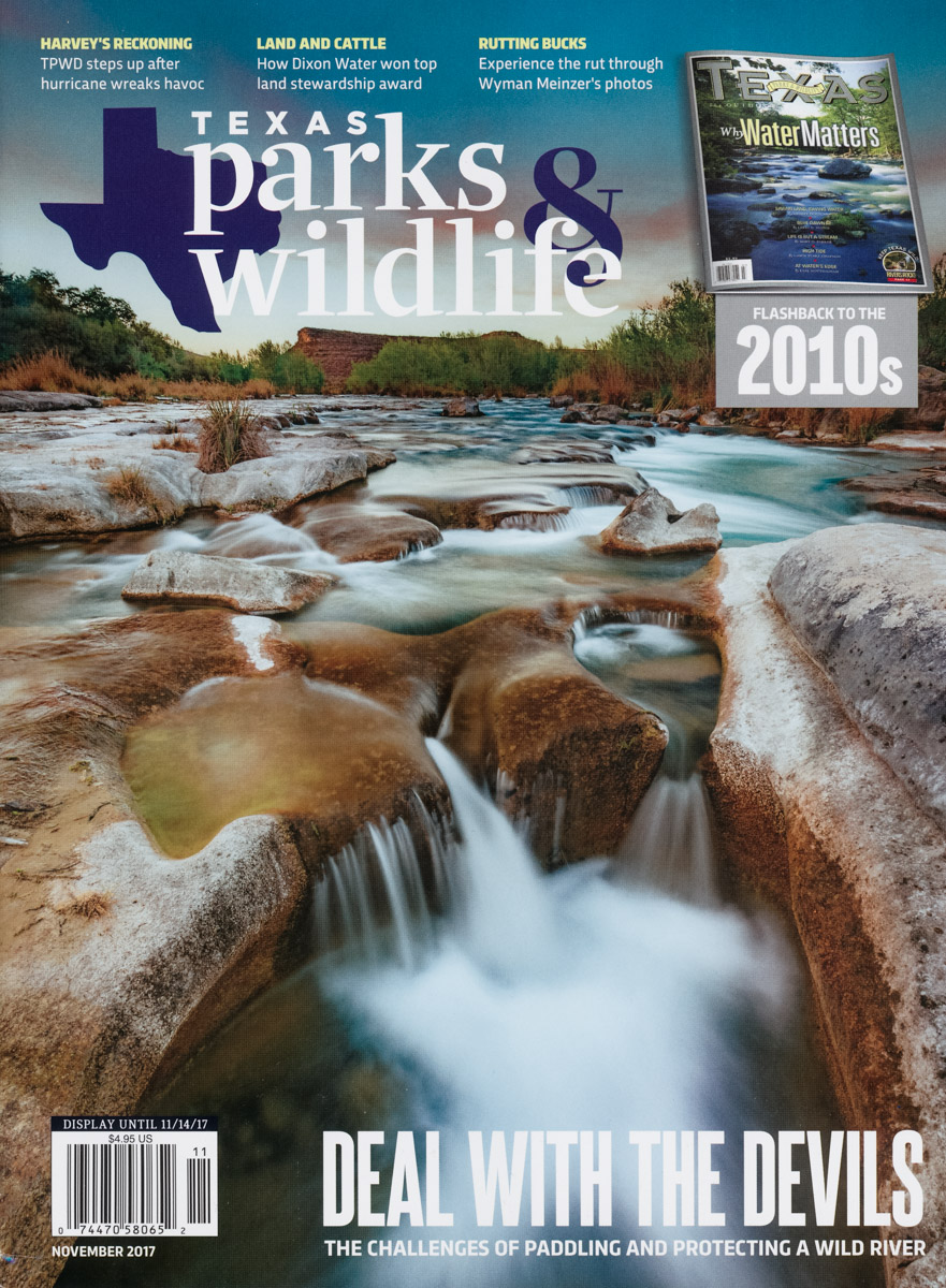 Texas Parks and Wildlife Magazine Cover - Devils River