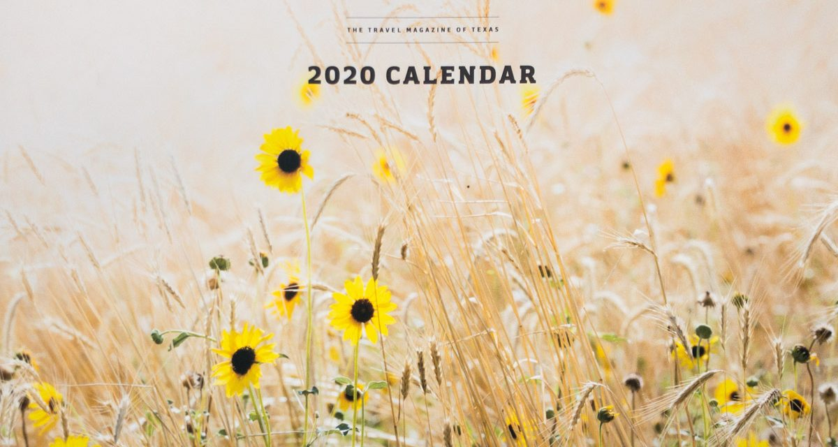 Texas Highways Calendar 2020