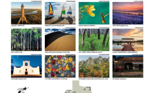 Four images in Texas Highways 2018 Calendar