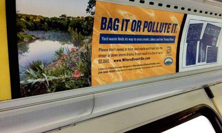 Dallas DART Campaign to Stop Trash in the Trinity River